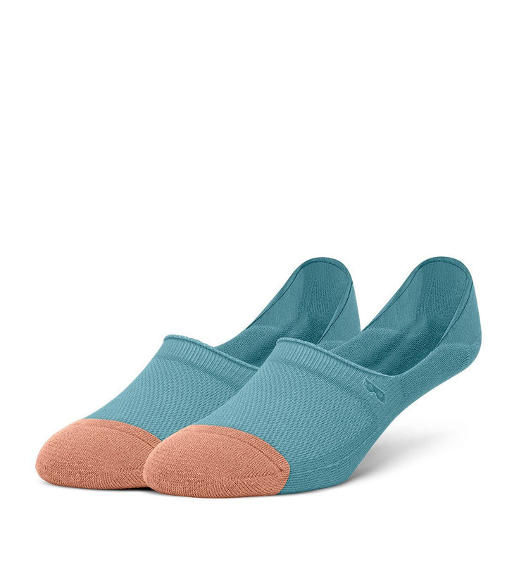 Turquoise Women's Prism Cushion No Show Socks