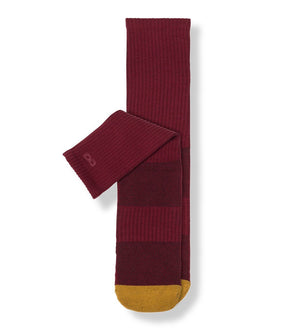 Wine Men's Prism Cushion Crew Socks