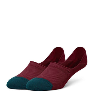 Wine Women's Prism Cushion No Show Socks
