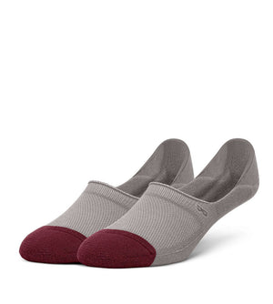 Grey Men's Prism Cushion No Show Socks