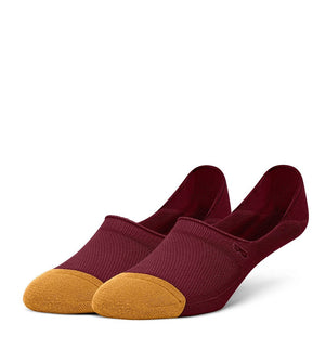 Wine Men's Prism Cushion No Show Socks