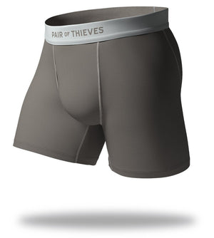 The Solid Gunmetal SuperFit Boxer Briefs Front