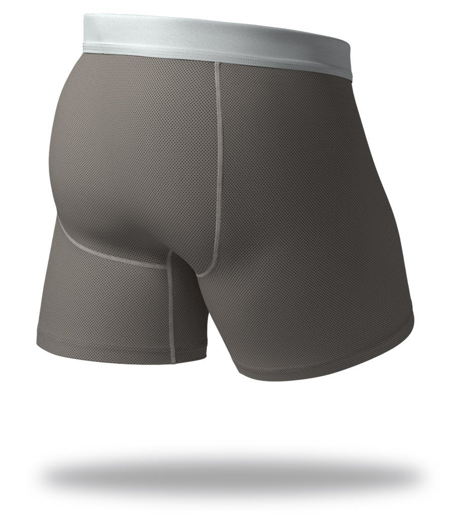 The Solid Gunmetal SuperFit Boxer Briefs Back