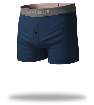 The Solid Navy Pink SuperSoft Slim-Fit Boxers