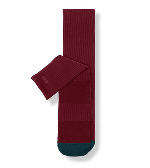 Wine Women's Prism Cushion Crew Socks