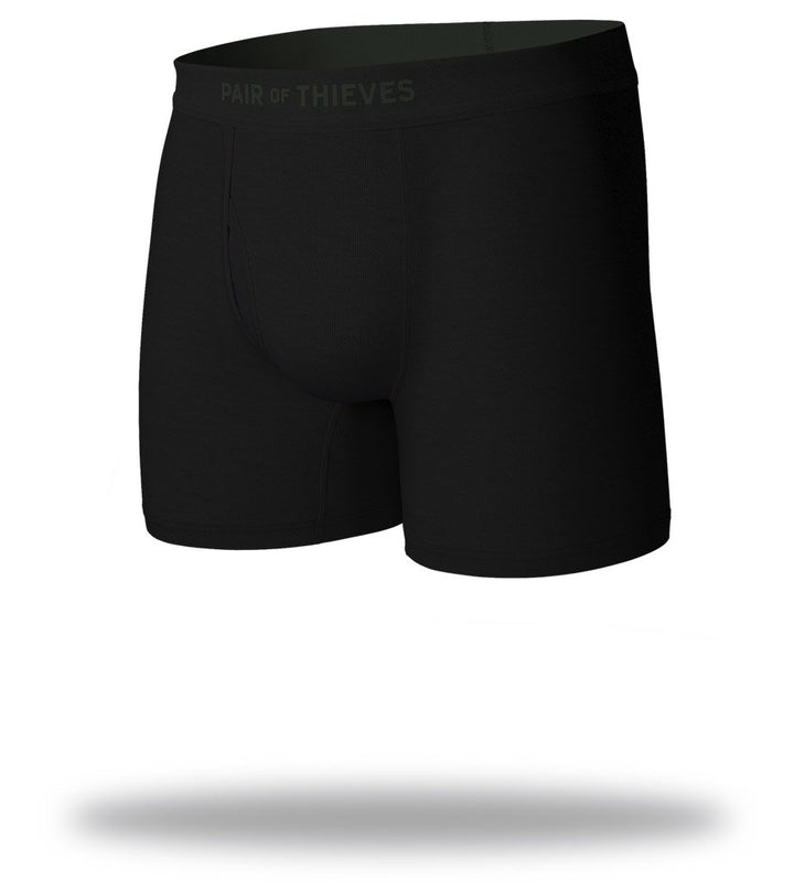 Olive Blackout SuperSoft Boxer Briefs Front