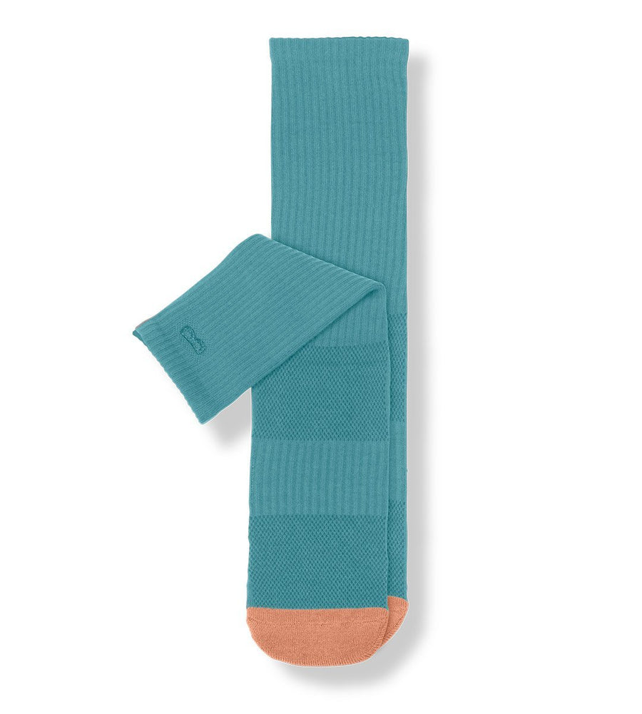 Turquoise Women's Prism Cushion Crew Socks
