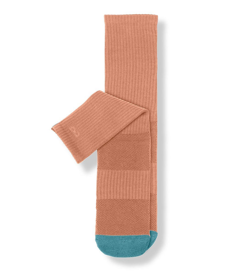 Dusty Coral Women's Prism Cushion Crew Socks