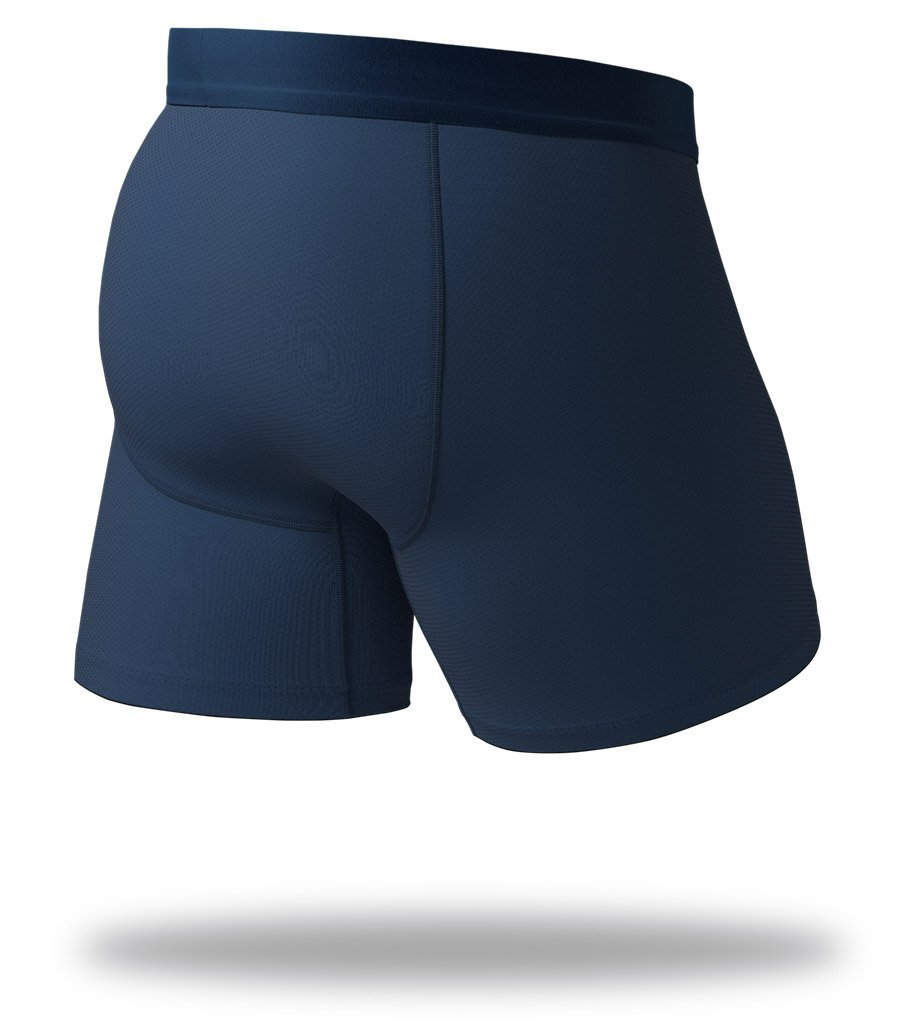 The Solid Navy SuperFit Boxer Briefs Back