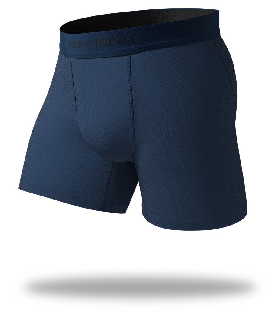 The Solid Navy SuperFit Boxer Briefs Front