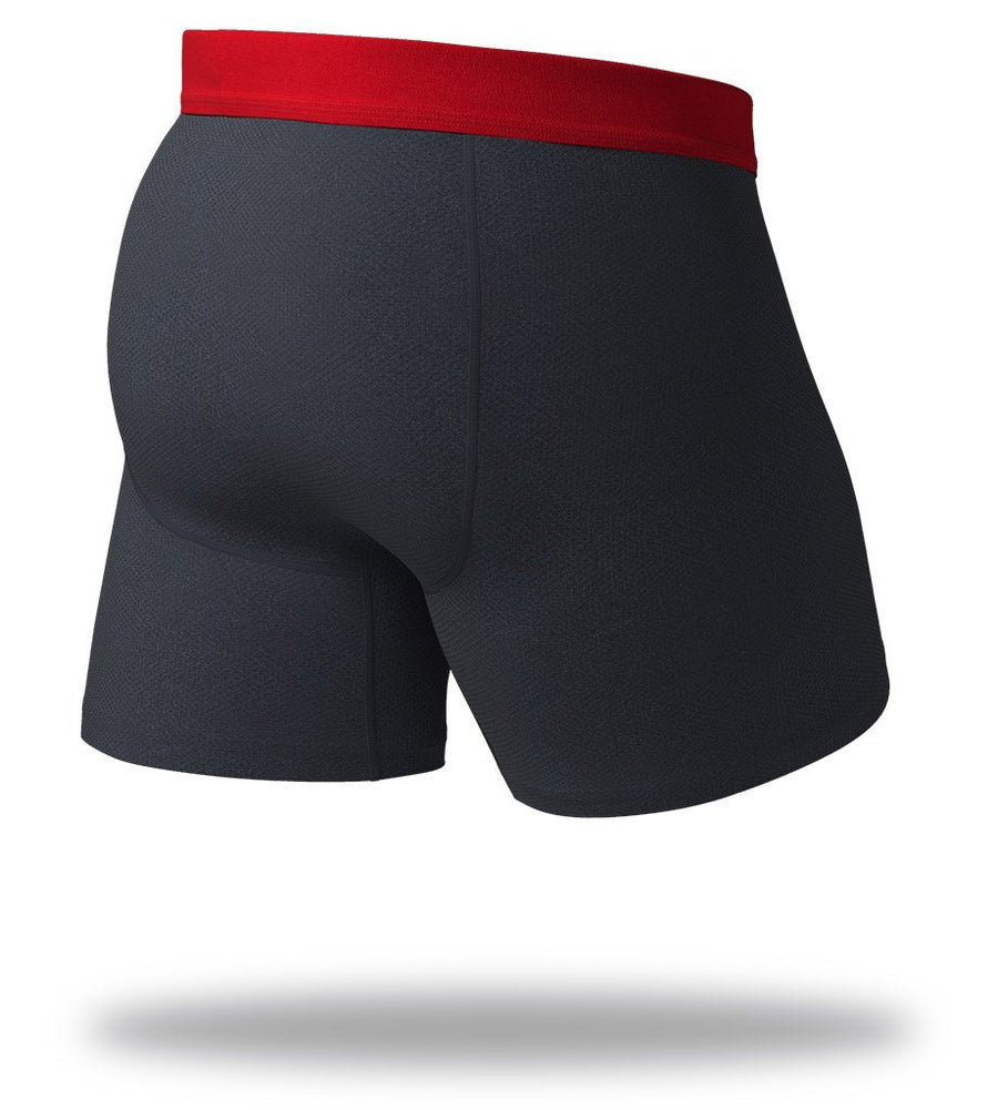 The Solid Black Heather SuperFit Boxer Briefs