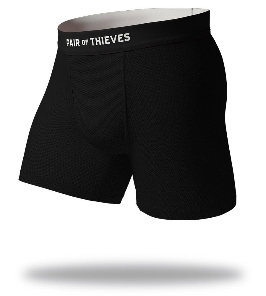 The Solid Black White SuperFit Boxer Briefs