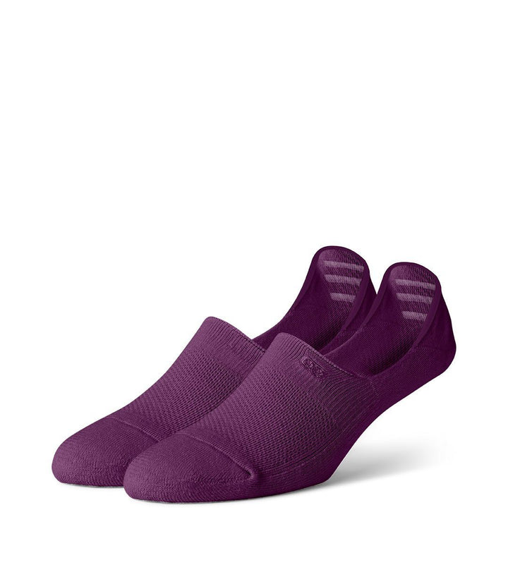 Purple Women's Cushion No Show Socks