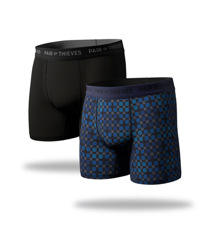 supersoft boxer brief 2 pack, blue circle boxer brief, black boxer brief