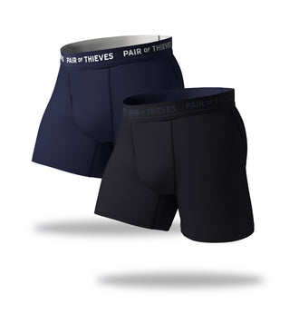 SuperFit Boxer Briefs 2 Pack, black and navy