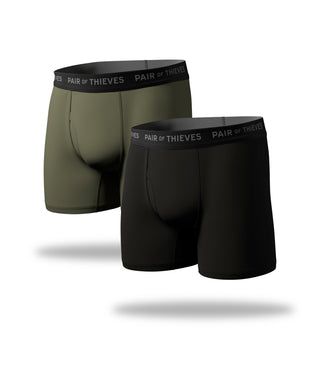supersoft boxer brief 2 pack, black boxer brief, green boxer brief