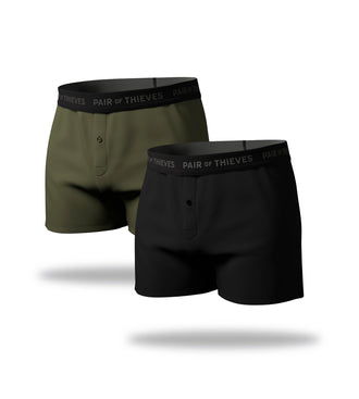 supersoft boxer 2 pack, black boxer, green boxer