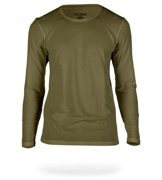 Seaweed Green SuperSoft Long Sleeve Crew Neck Tee