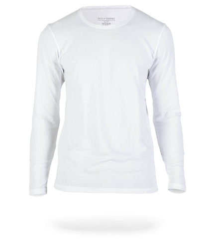 White SuperSoft Long Sleeve Crew Neck Tee