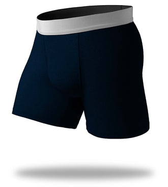 Solid Heather Blue SuperFit Boxer Brief