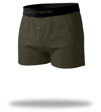The Solid Seaweed Mega Soft Loose Boxers