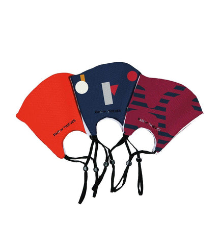 Red/Blue Reusable Face Masks 3 Pack S/M
