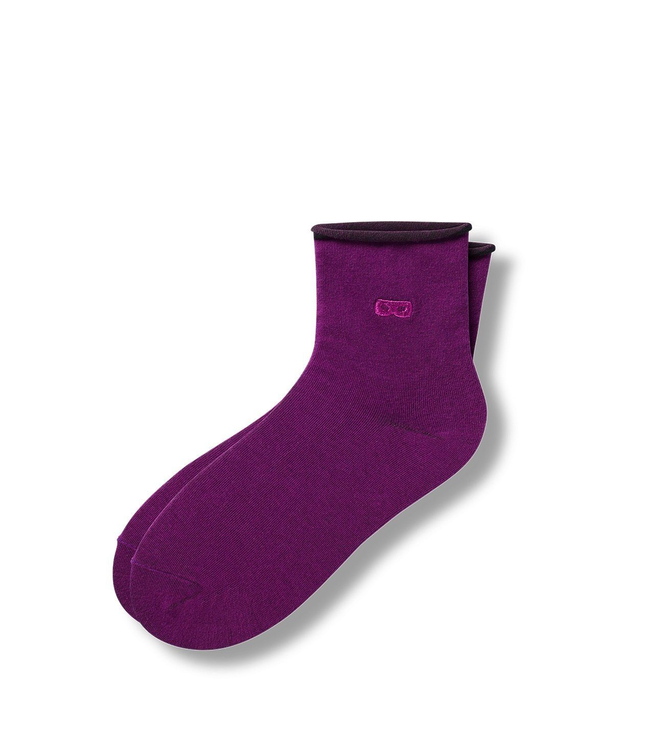 Purple Women's Prism Roll Top Ankle Socks