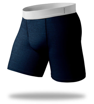 The Solid Gold Heather Blue Cool Breeze Long Boxer Brief
