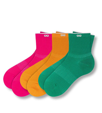 Solid Ribs Women's Ankle Sock 3 Packs