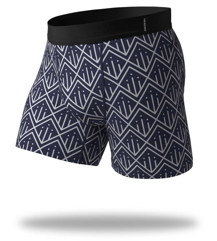 Exit Pole In Navy Cool Breeze Boxer Brief
