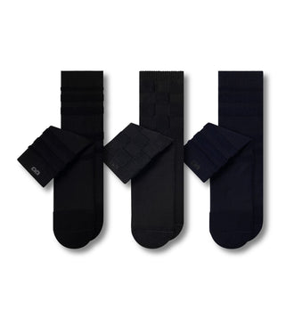 Dark colored crew socks