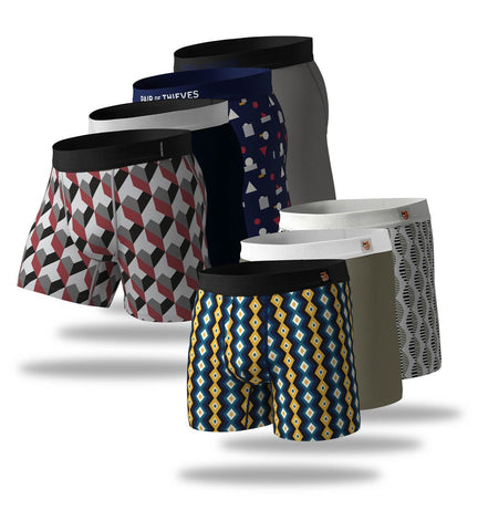 Grey/Navy Week Sauce Boxer Brief 7 Pack