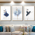 Watercolour Ballerina No1 Canvas Print