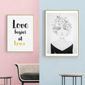 Love Begins At Home Canvas Print