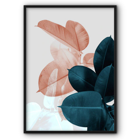 Tropical Leaves No2 Canvas Print