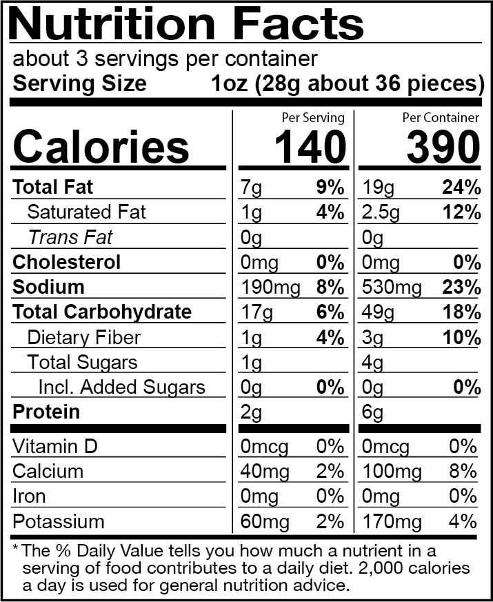 Aged White Cheddar Cheese Balls- 6 Pack Nutrition Label