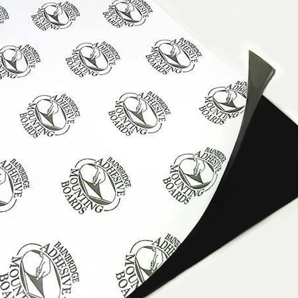 "32"" x 40"" x 3/16"" Black Bainbridge Self Adhesive, 25 Pack"