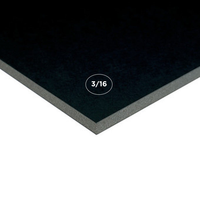 "3/16"" Black Acid Free Foam Board, 25 Pack"