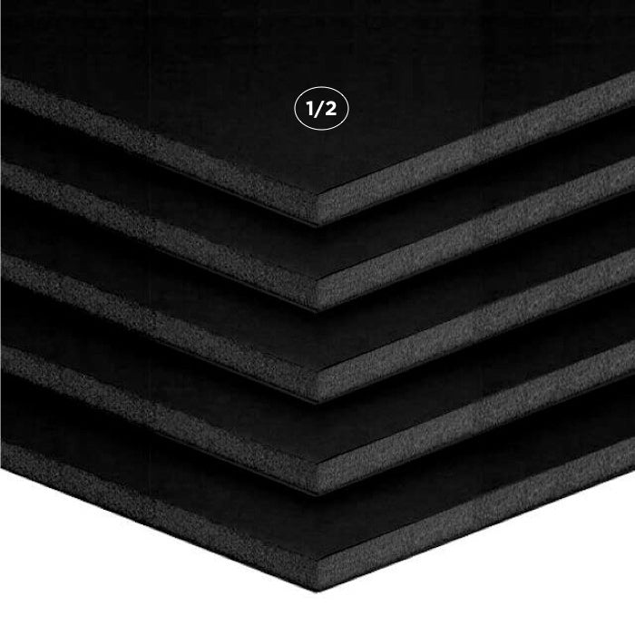 "1/2"" Black Foam Board Multi Packs"