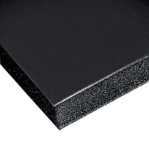 "48"" x 96"" x 3/16"" Black Gatorfoam Gator Board (3 CUTS: 48x32 / 48x30 / 48x34)"