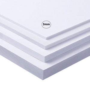 3mm White Komatex PVC Multi Packs