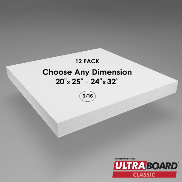 "3/16"" White UltraBoard Custom Cut 12 Packs"