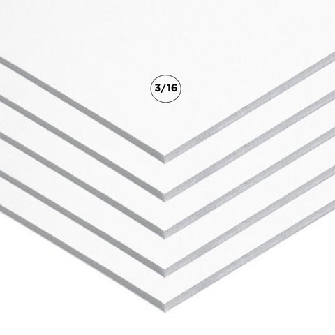 "3/16"" White Foam Board Multi Packs"