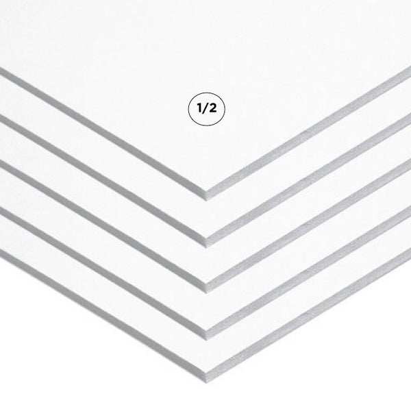 "1/2"" White Foam Board Multi Packs"