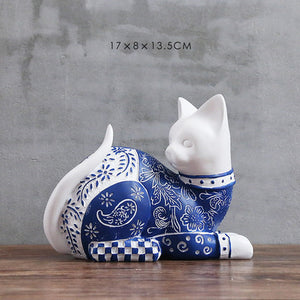 Handbeschilderde Japanse CatArt© collectie