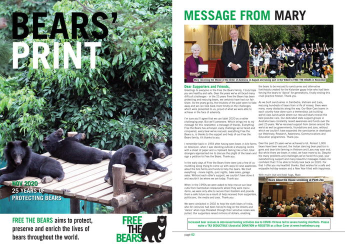 Bears' Print November 2020! Read all about bears!