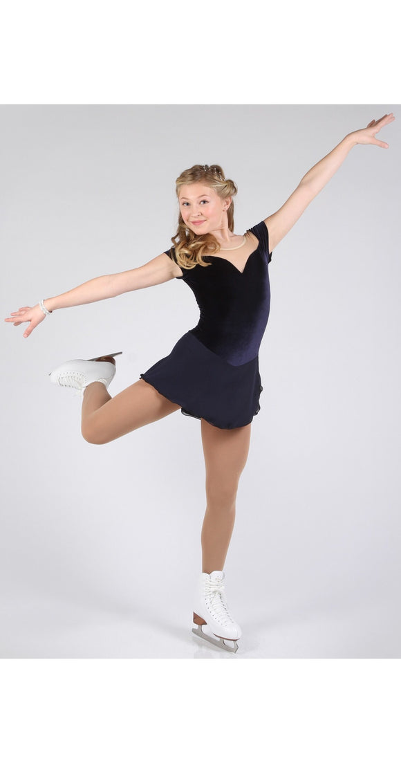 Elite Xpression Gracie Gold Navy Dress