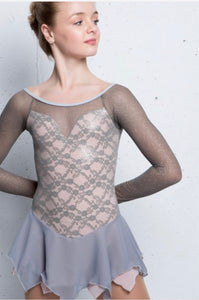 Elite Xpression Mature Simplicity Grey/Blush Dress