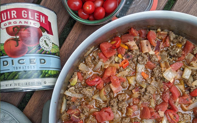 One Pot Meal: Grass-Fed Meat Sauce by @wellnesswithdanielle