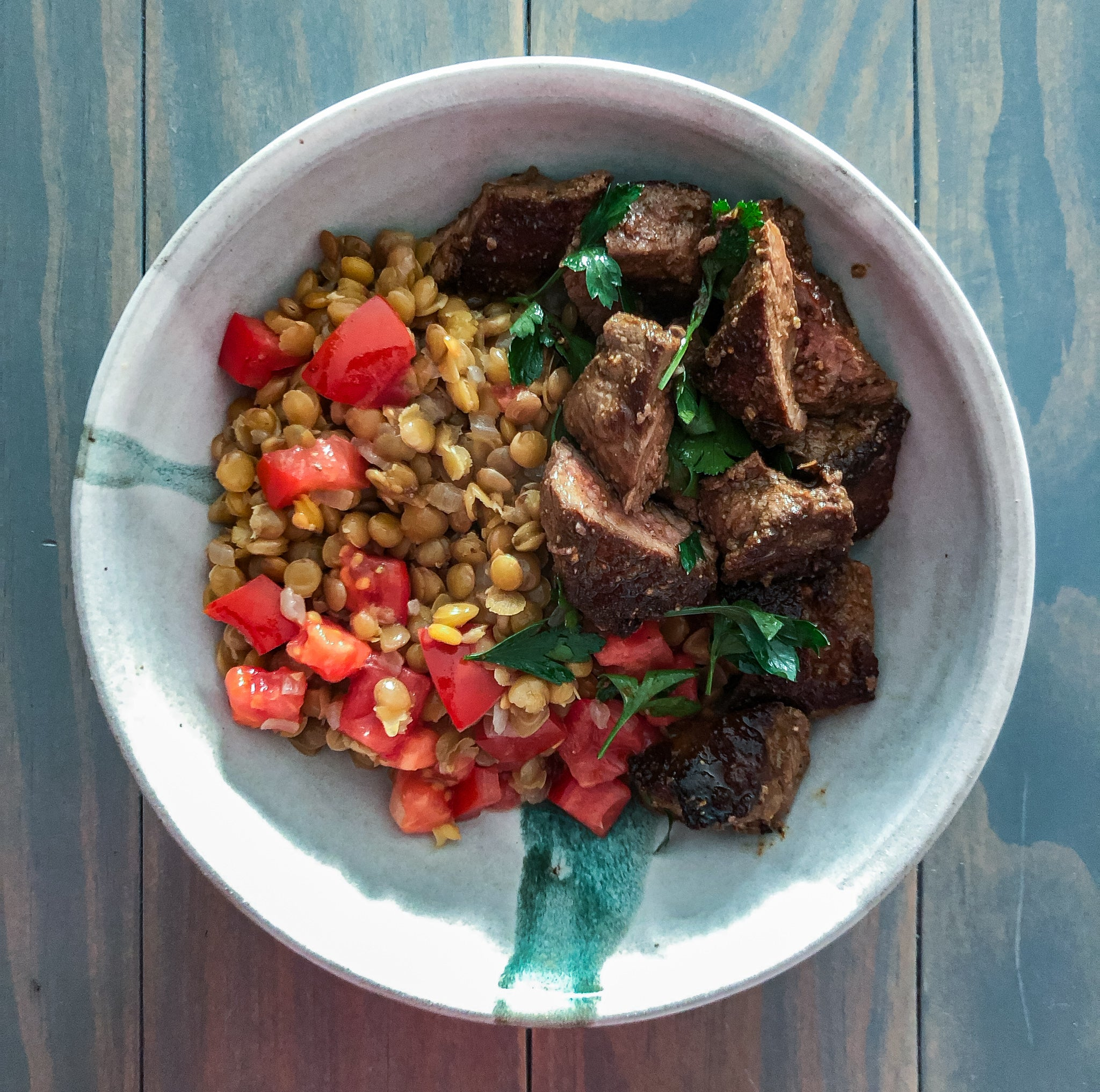 Spiced Beef & Lentils